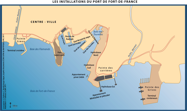Atlas cara be - Le port de fort de france ...